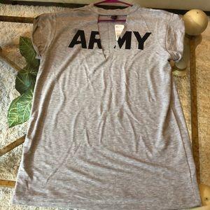 NWT Army casual sleep shirt/night gown